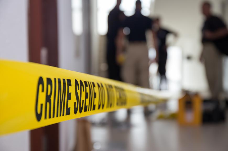Crime scene tape in nashville.
