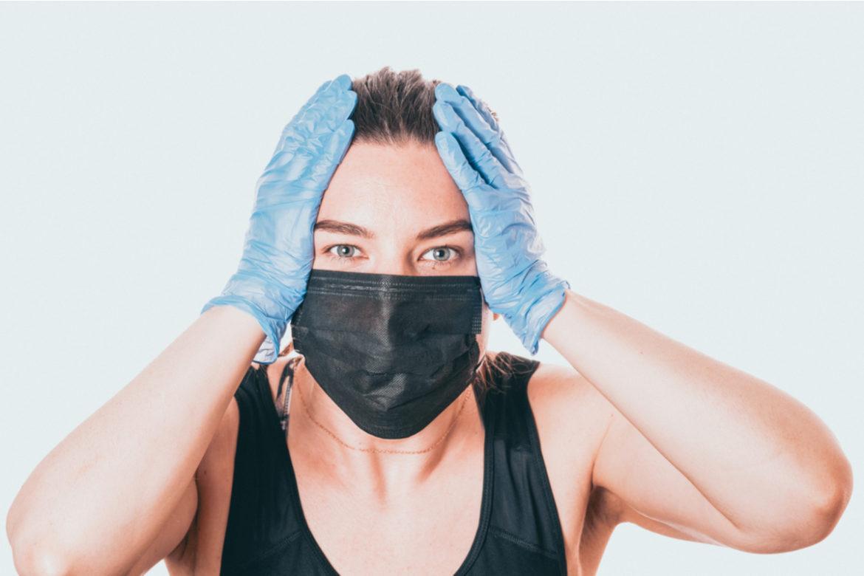 A masked woman.